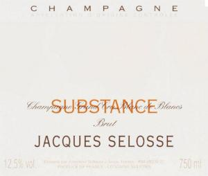 "CHAMPAGNE JACQUES ""SELOSSE SUBSTANCE"